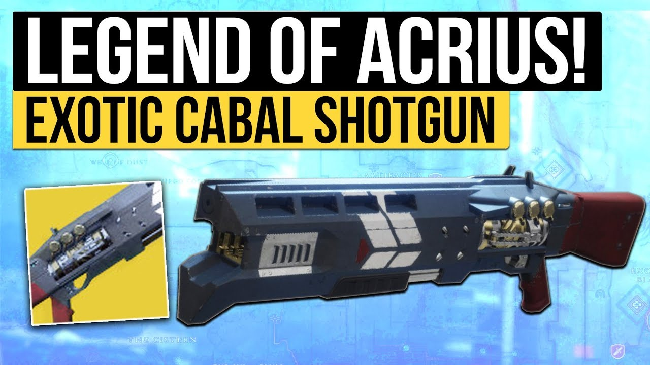 Destiny 2 Legend of Acrius Exotic Shotgun (End the Arms Dealer) Strike  Package