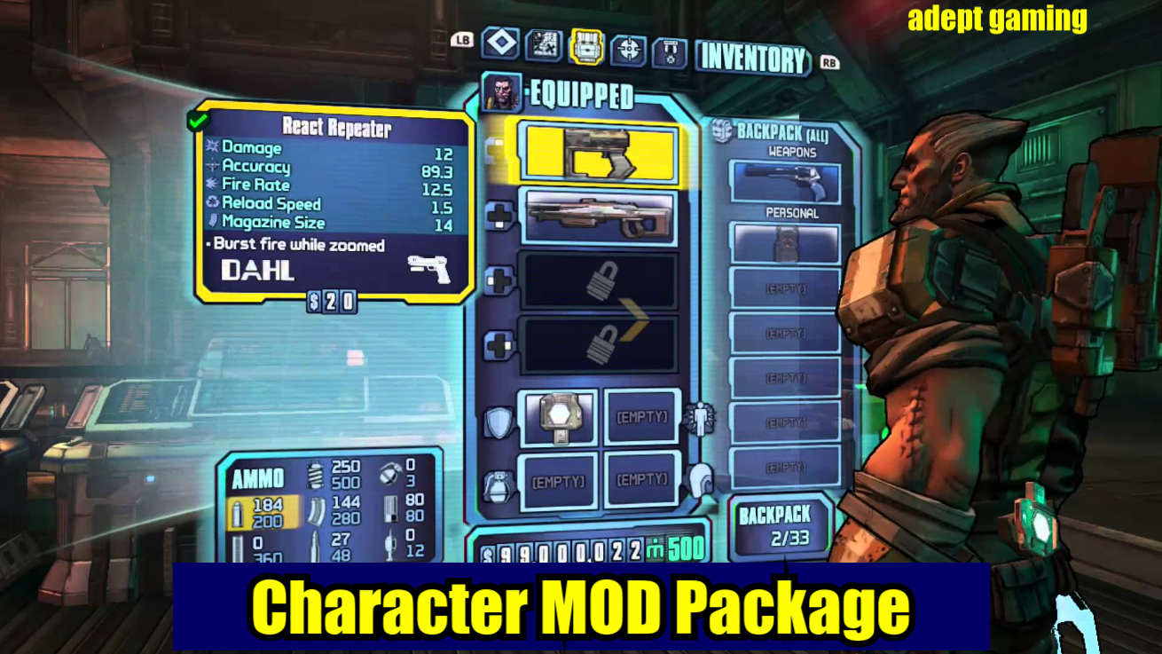 Borderlands 2 Xbox One/Xbox 360 Character MOD Package