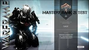 Warframe Mastery Rank Test