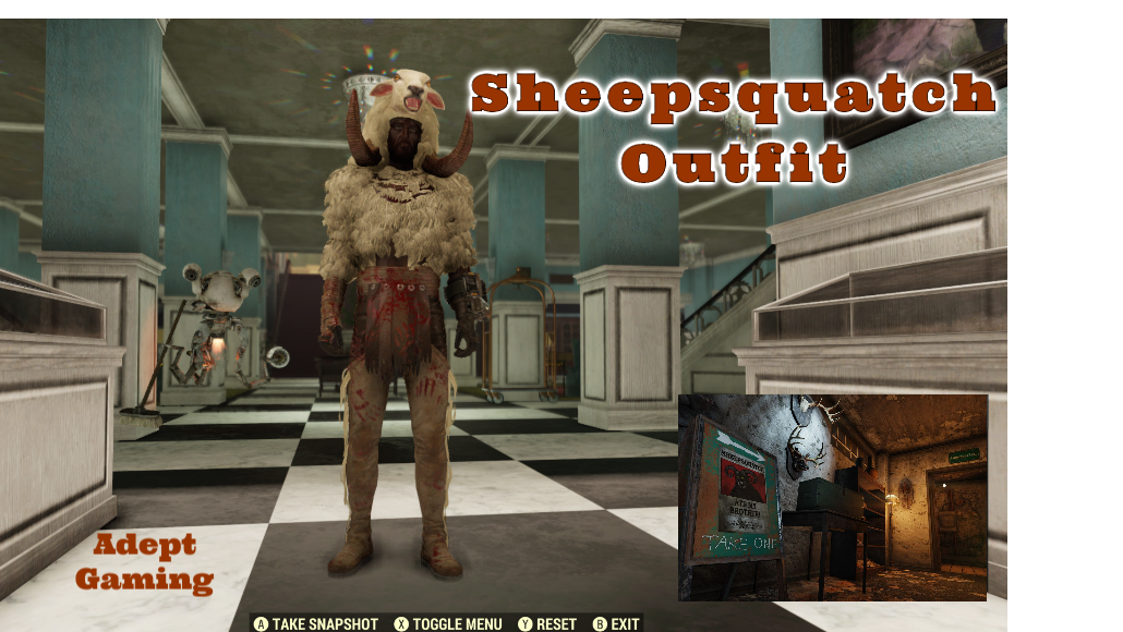 Fallout 76 Xbox One Sheepsquatch Imposter Outfit
